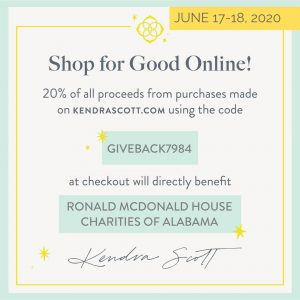 Kendra Scott June 17-18 Give Back