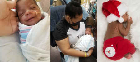 Photos of Juanakee holding her infant son, Zayden.