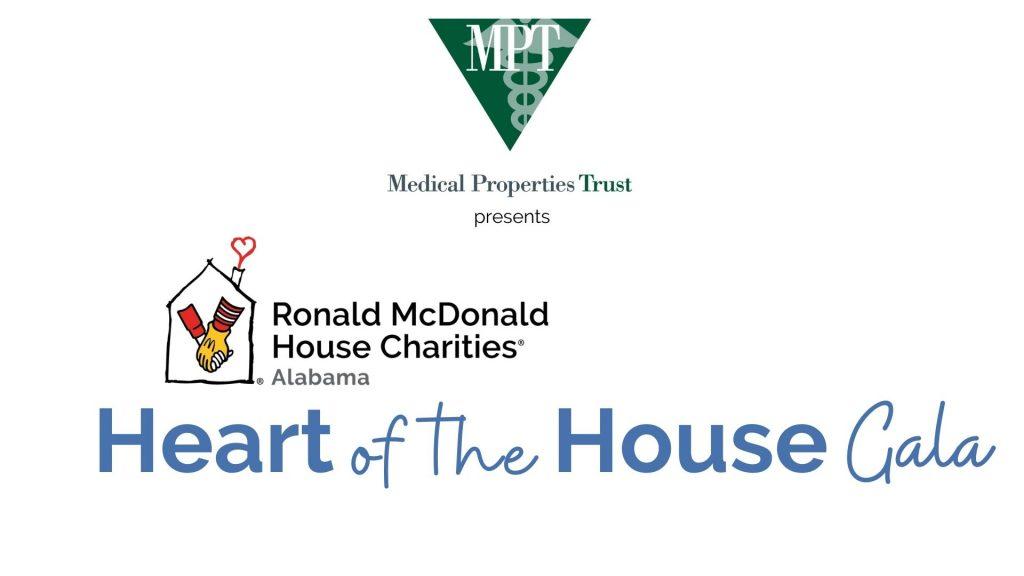 Logo lockup Medical Properties Trust presents RMHCA Heart of the House Gala