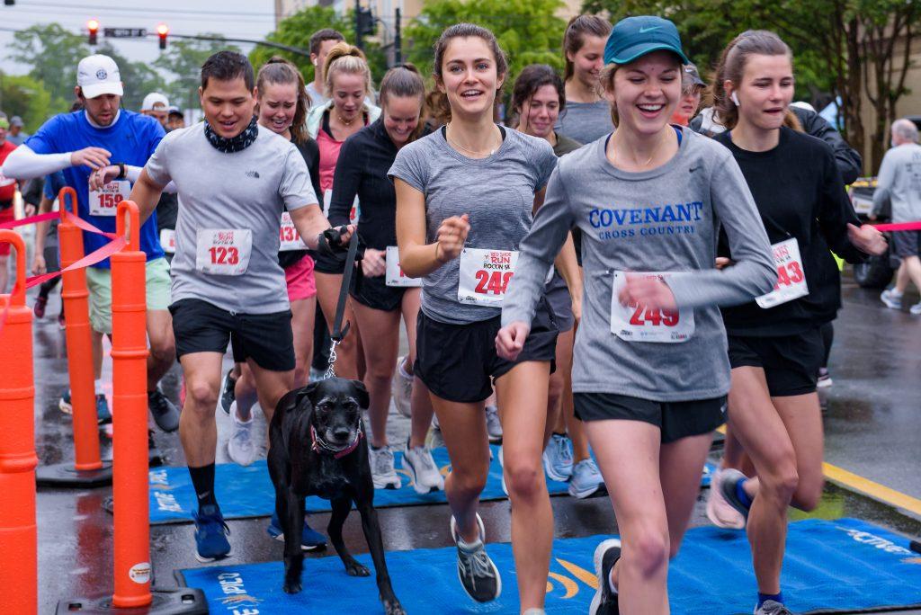 Runners begin the Red Shoe Run